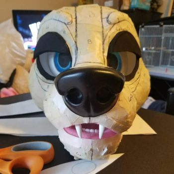 Edge fursuit head WIP by T0yHouse