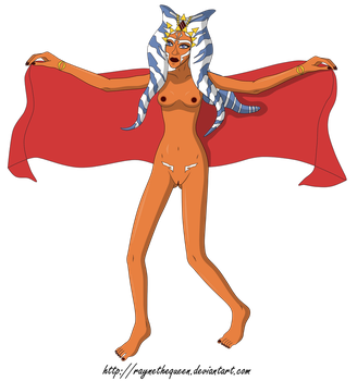 54. Dance of flame passion (Naked, Ahsoka Tano) by RayneTheQueen