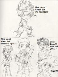 Dragon Ball Fusions - What If? - SSJ Kid Goku?! by PKMNTrainerSpriterC