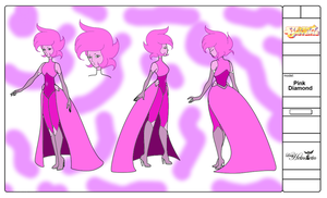 Pink Diamond Coloured by QuestionUnicorn