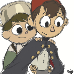 Wirt carrying Greg (animated) by BroGirl62
