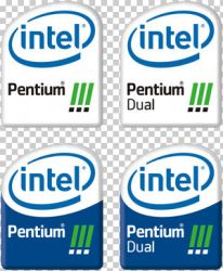 New style Pentium 3 logos by docacola