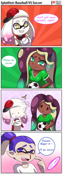 Splatfest: Baseball vs Soccer by RilexLenov