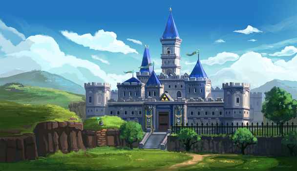 Legend of Zelda - Hyrule Castle by Minionslayer