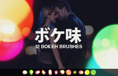 12 Large Bokeh Brushes by pstutorialsws
