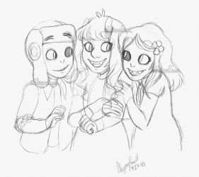 Trio of Troublemakers|Sketch by WhisperSeas