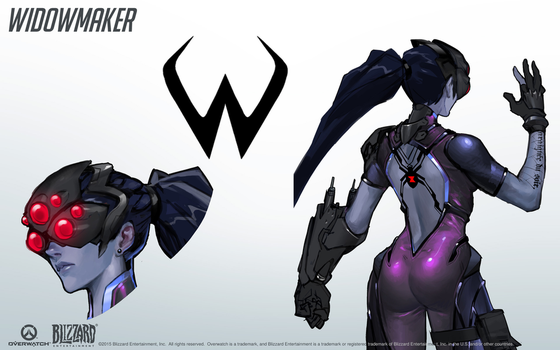Widowmaker - Overwatch - Close look at model by PlanK-69