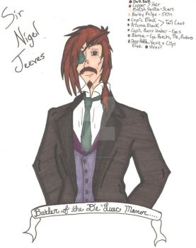 Sir Nigel Jeeves - Butler of De'Luec Manor by aoiumikitsune