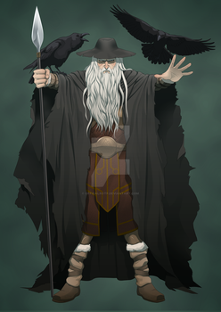 Odin Supreme Norse God of Wisdom and Knowledge by OfficalROTP