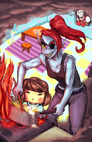 Undyne date by Chillustration