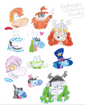 Rayman Legends Doodles by ClaireAimee