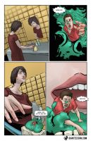 Tiny, Trapped, and Terrified on a Toothbrush by giantess-fan-comics