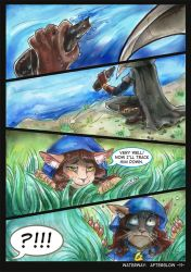 Waterway Afterglow pg. 11. by TiamatART
