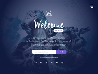 Subscribe Landing Page by slayerD1
