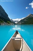 Canoe on Lake Louise by tamauz