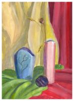 Two vases and plum by jkBunny