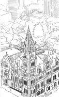 Old City Hall From New City Hall by radioactiveroach