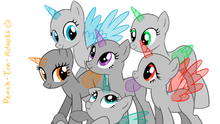 Mlp M6 Group Base by peach-tea-adopts