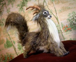 Frisky Goat Squirrel Art Doll by Zullala
