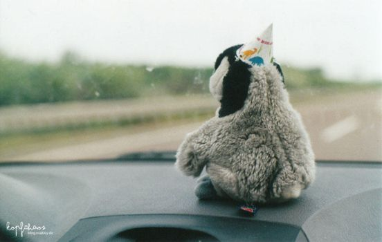on the road.. with a penguin by Pawloo