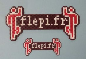 My logo in mini and regular beads by flepi