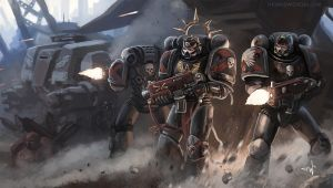 Warhammer 40K: Death Company by thomaswievegg