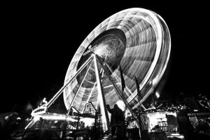Ferris Wheel Long Exposure by MisterDedication