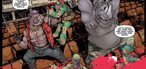 Making-of a panel_TMNT#28 by Santolouco