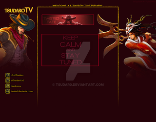My Second Twitch.tv background for myself by TSUDAR0