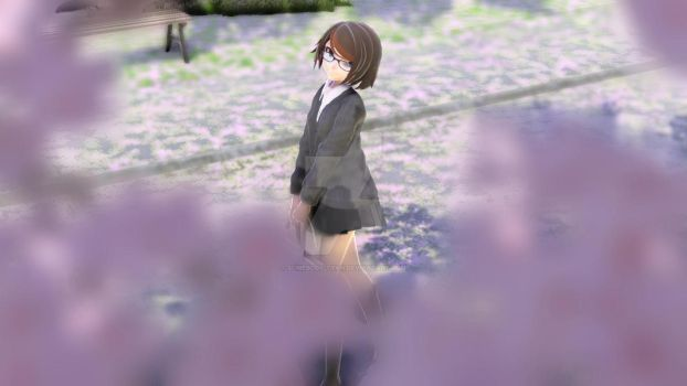 [MMD] Sakura trees by Somebody-tyan