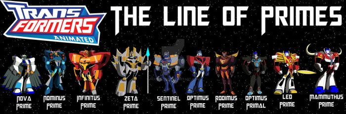 Transformers Animated - Prime Lineage by RexBlazer1