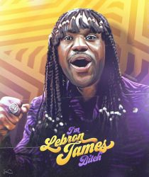 Lebron James x Rick James x Dave Chappelle by skythlee