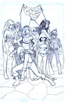 DC Comics Women by sykoeent