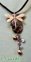 Dragonfly Necklace by WhimsicalWitch
