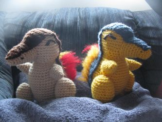 Cyndaquil And Shiny Cyndaquil by s0nicfreak