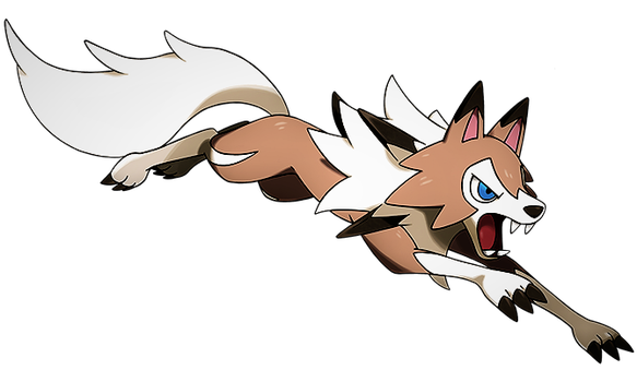 Lycanroc Midday on the hunt by Pokemonsketchartist