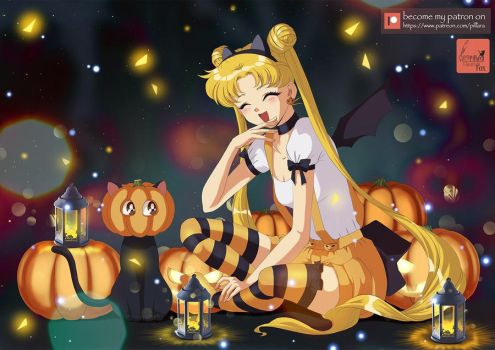 Happy Halloween_SailorMoon by Pillara