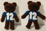 2nd 12th Bear - Crochet Seahawks Bear Amigurumi by maddinja