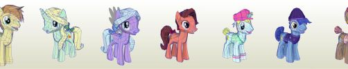 MLP Gameloft Feather Bangs Fans and Entourage by PapercraftKing
