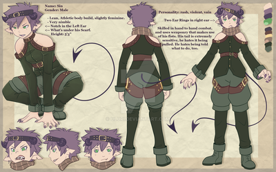 Sin Reference Sheet by Uluri