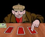 Shady 3 Card Monte by DamnMulletDesign
