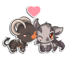 Houndoom and Mightyena :kiriprize: by Mirera