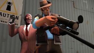 (SFM) Spy vs Sniper by TheImperialCombine