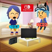 (G) Ludwig And Cole Playing The Nintendo Switch by NicoleTheKoopa