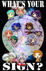 What's Your Sign 11x17 POSTER by kuroitenshi13