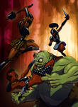 Cave Ogre! The Black Dragons! by StalinDC