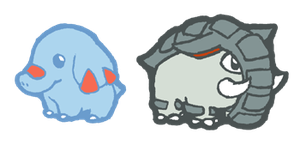 qt phanpy and donphan