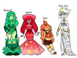 OC: More gem characters by sariasong64