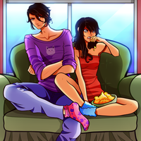 Aphmau and Aaron Genderbend - MyStreet by FlyingPings