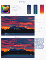 Evening color study notes by AppleSin